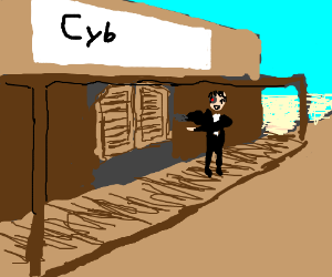 cyborg opens up a saloon