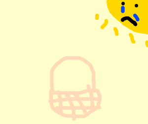 sun sad about basket