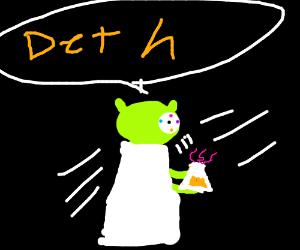Yoda kills himself with a magic potion