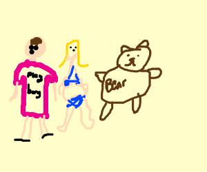 Hugh Hefner hangs out with teddy bears