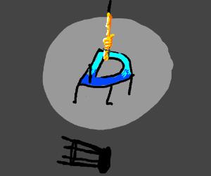 Drawception D hangs itself. Sad day.