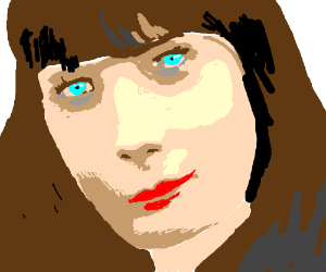 (well drawn) Zooey Deschanel