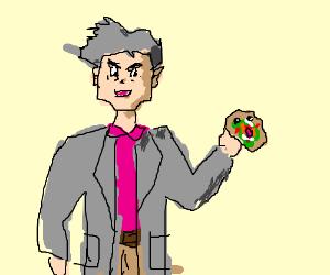 Professor Oak makes Pokemon kebabs!