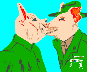 Full Metal Jacket with pigs
