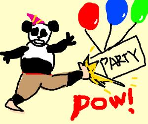 PO THE PANDA KICKS UP A PARTY!