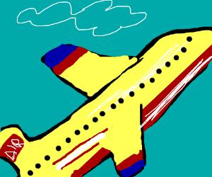 Airplane flying upwards