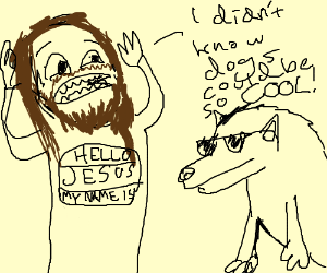 Jesus didnt know dogs with sunglasses are cool
