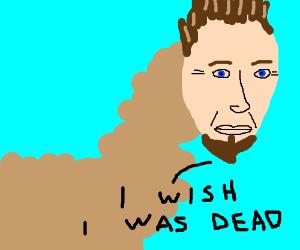 Llama w/ bearded C. Walken's head wants to die