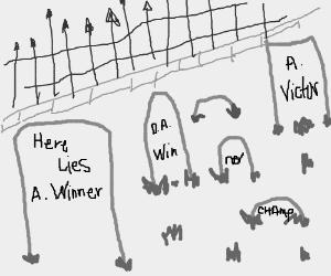 Graveyard of a winner