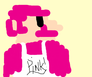 Pink mario. His moustache is also pink