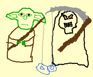 yoda goes fishing with death