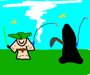 yoda and death go fishing