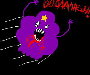 Lumpy Space Princess becomes bloodthirsty