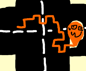worm puzzled by crossroad