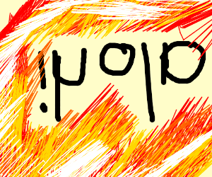 """ihola?"" mirrored (upside-down)"