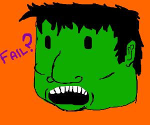 The last artist tried to draw the hulk /failed