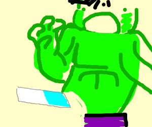 Hulk getting erased by the eraser