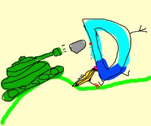 Tanks attacking Drawception