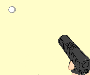 Bullet holes through Drawception draw space
