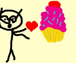 A MLP loves cupcakes
