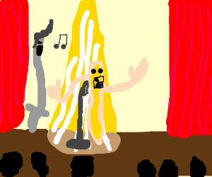 Mozzarella advert features singing man