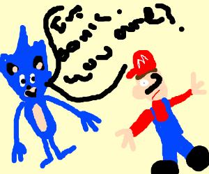 Sonic hedgehog meets Mario