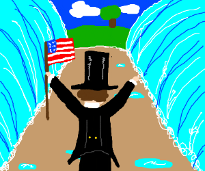 Honest Abe parting the Red Sea