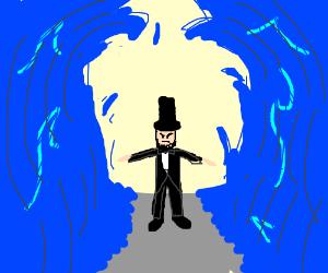 Abe Lincoln parts the sea
