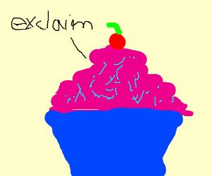 Cupcake exclaiming something