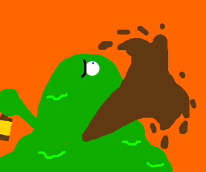 it s a mexican drinking worm drawception
