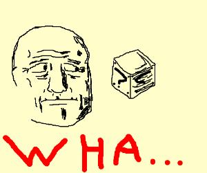 old man wonders about mario blocks