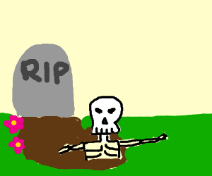 Skeleton comes back from the dead