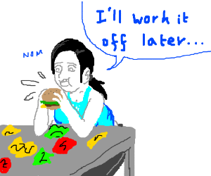 Wii Fit Tariner's eating disorder ;_;