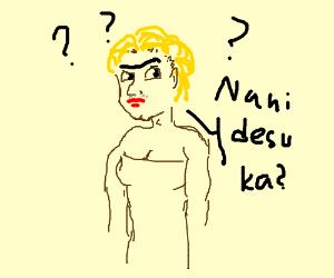 Confused anime transvestite