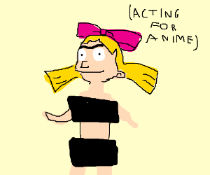 Helga Pataki strips down for an anime role.