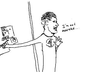 Reed Richards denies his Drawddiction.