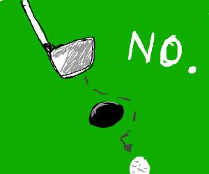 Person bad at golf