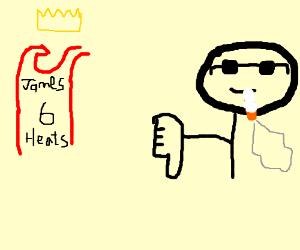 Cool smoking dude hates King James