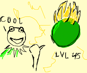 kermit praises green ball on gettin lvl 45