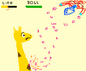 Giraffe cannot dodge danmaku.