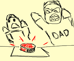 Kid presses THE RED BUTTON - Dad nat approve!