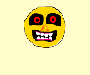A yellow happy face.