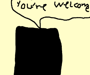 Black spock says: You're welcome