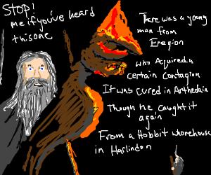 Gandalf The Grey Recites A Limerick To Balrog