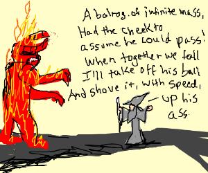 Gandalf plays a raunchy limerick