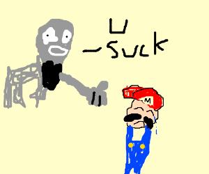 Goat hates on Mario