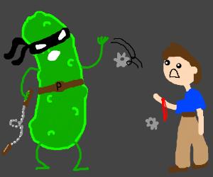Ninja Pickle cuts YOU