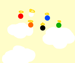 Simon game's colours died and went to heaven