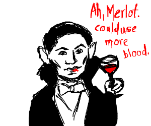 dracula is a wine tester