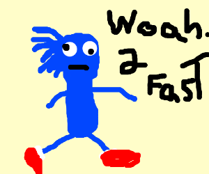 Sanic derps and goes too fast